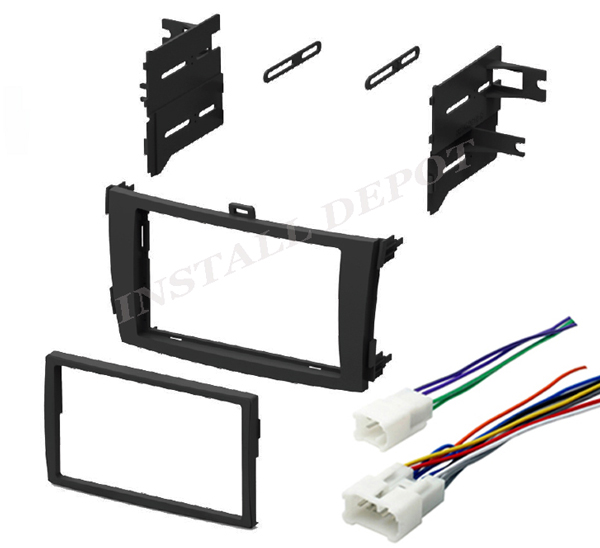 Corolla Double Din Dash Kit  U0026 Wire Harness Car Stereo