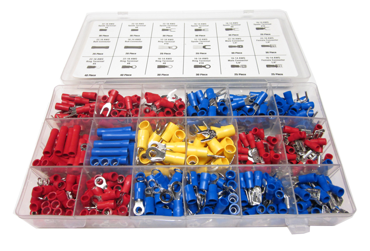 520 pc assorted wire connectors terminals kit electrical wiring rh ebay com trailer wiring connector kit trailer wiring connector kit